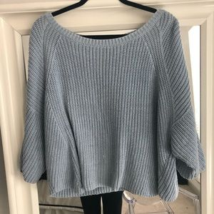 Blue Free People Sweater